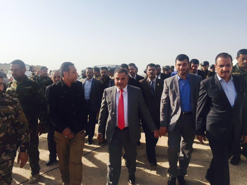 محافظ صلاح الدين يرافق الزاملي والمطلك ويتجولون في بحيرة الثرثار المحررة