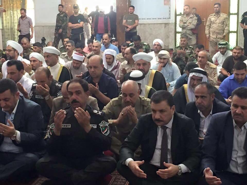 بالصور : اول صلاة الجمعة الموحدة في الفلوجة بعد تحريرها