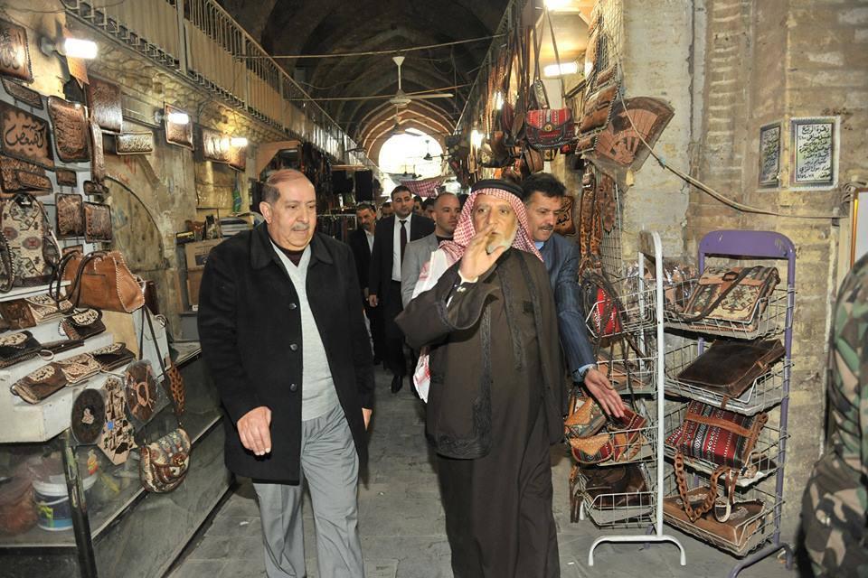 الدكتور الهميم يزور مقهى الشا بندر في شارع المتنبي ببغداد ويصفها بأنها جزء من الذاكرة