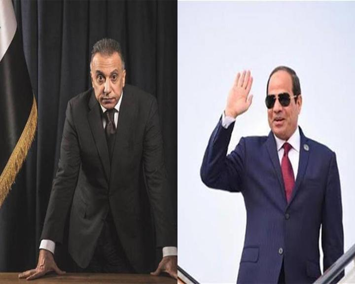 الرئيس السيسى يهنئ نظيره العراقى بتكليف مصطفى الكاظمى بتشكيل الحكومة