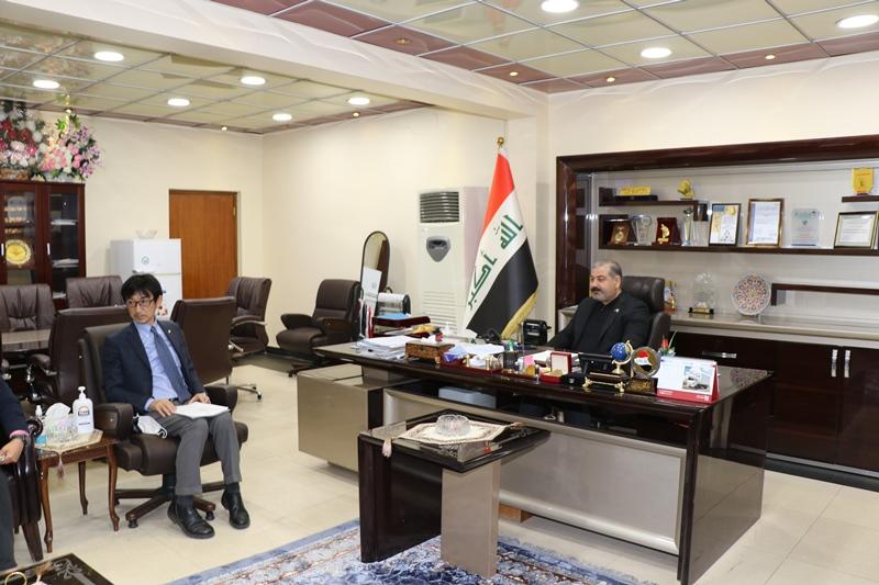 التجارة   … مدير  عام شركة المعارض العراقية يبحث مع نائب السفير الياباني في بغداد التعاون المشترك بين الجانبين