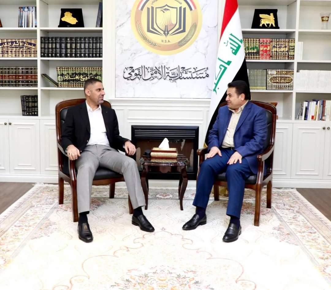 مستشار الأمن القومي السيد قاسم الأعرجي يستقبل مدير مكتب رئيس مجلس الوزراء