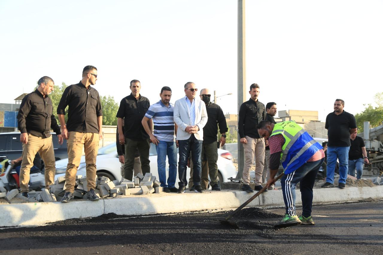 المعمار علاء معن يعلن تحقيق نسب انجاز متقدمة بتطوير شارع الفلاح